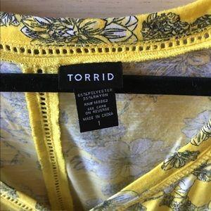 torrid Tops - Torrid Yellow Floral Top